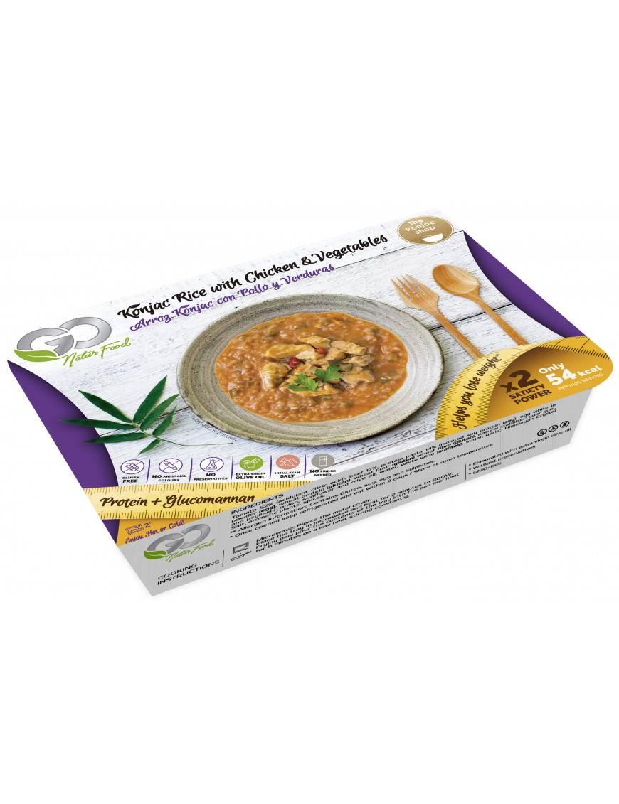 Arroz Konjac con Pollo y Vegetales