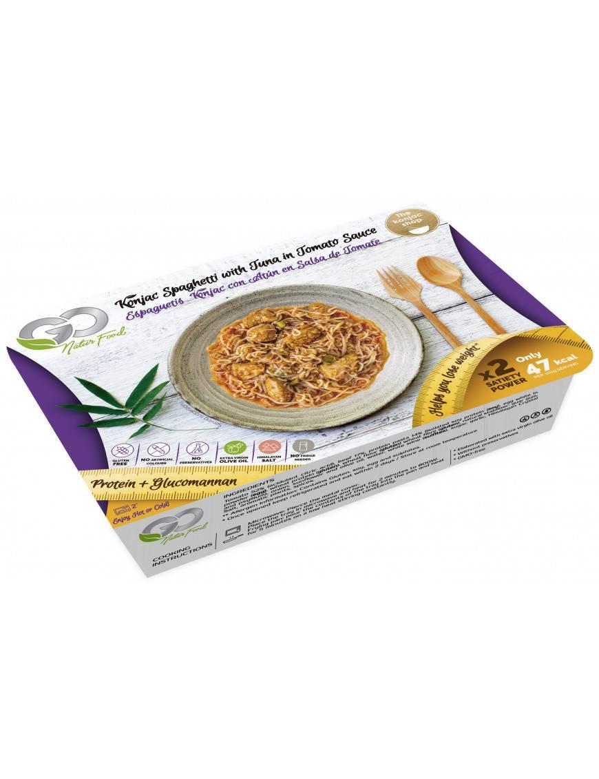 Espaguetis Konjac con Atún