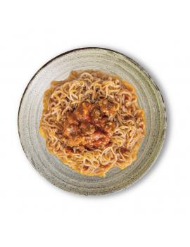 Espaguetis Konjac a la Boloñesa